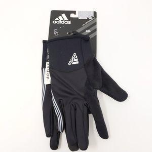 Adidas Black Climawarm Running Gloves Reflective